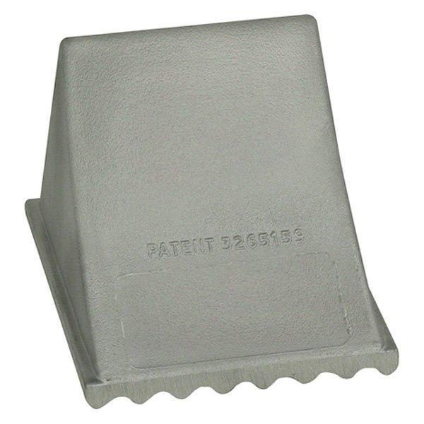 "Buyers® - 6"" x 7"" x 5.25"" Aluminum Silver Wheel Chock"