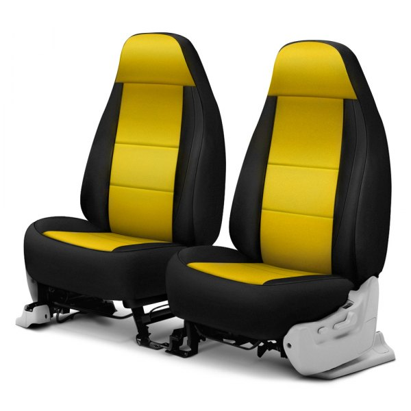 Sensational Coverking Cr Grade Neoprene Front Seat Black Yellow Custom Seat Covers Lamtechconsult Wood Chair Design Ideas Lamtechconsultcom
