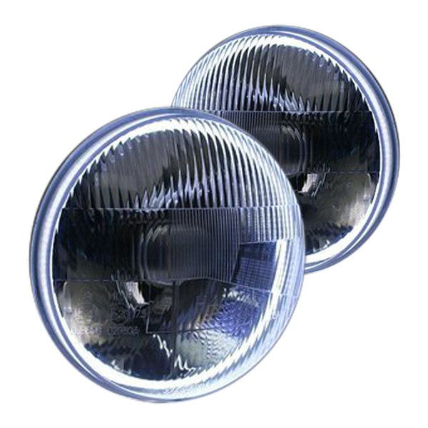 Delta Lights 7 Round Chrome Halo Led Factory Style Composite Headlights