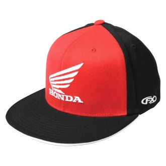17-88392 Factory Effex Black, Large/X-Large HONDA Wing Flex-Fit Hat