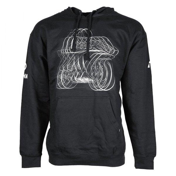 Black, Large Factory Effex 16-88224 YAMAHA R1 Pullover Sweatshirt