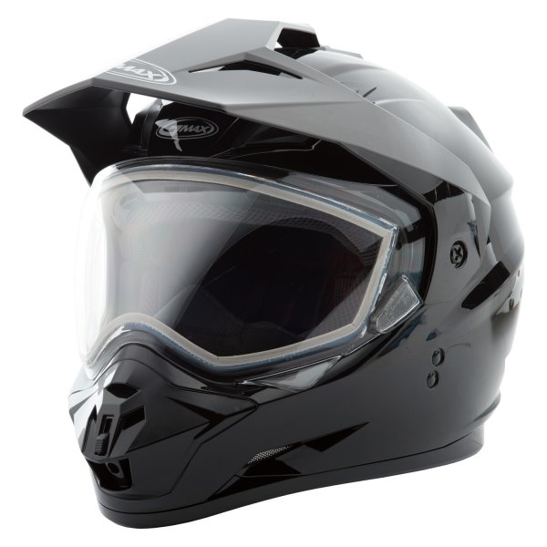 GM-11S Solid Large Black Dual Sport Snow