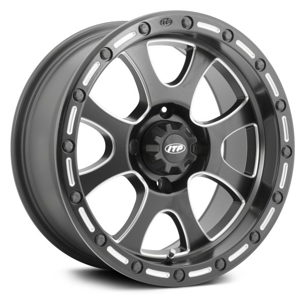 ITP® - Tsunami ATV/UTV Simulated BeadLock Matte Black/Milled Accents Wheel