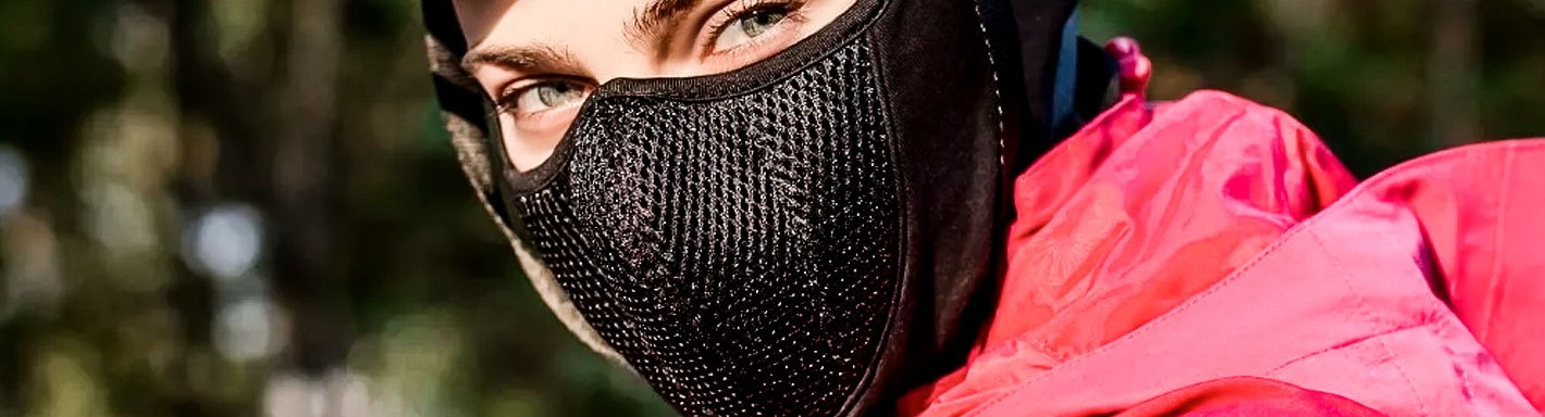 Zan WBNFM091H Modi-Face Detachable Mask Neoprene Black//White