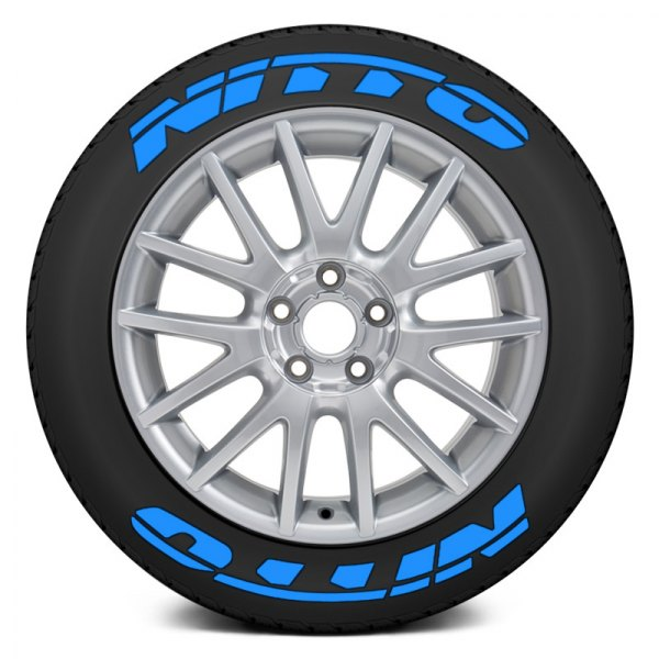 """Tire Stickers® - Blue """"Nitto"""" Tire Lettering Kit"""